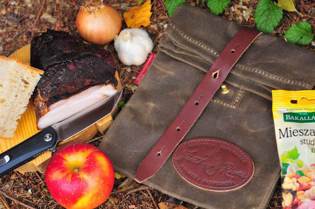 kapsicka forest river Canvas Lunch Bag Brotbeutel #966